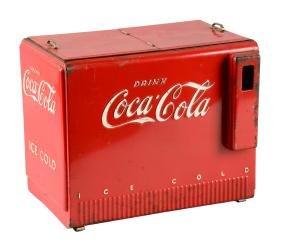 Coca - Cola Salesman's Sample Cooler Circa 1939..