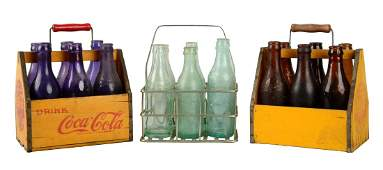 Lot Of 3: Coca - Cola 6-Pack Carriers.