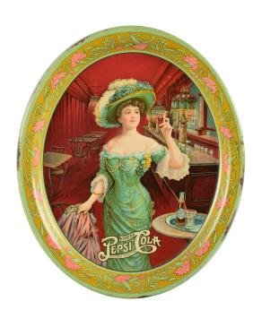 Oval Pepsi Cola Serving Tray.