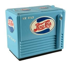 1940's Pepsi Salesman's Sample Cooler.