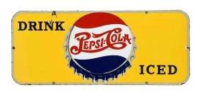 Porcelain Pepsi - Cola Advertising Sign.