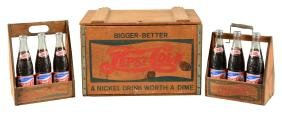 Lot Of 3: Pepsi - Cola Wooden Crate & 2 6-Pack