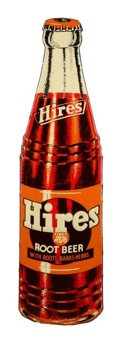 Hires Root Beer Embossed Tin Sign.