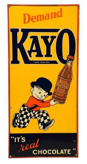 Kayo Chocolate Embossed Tin Sign.