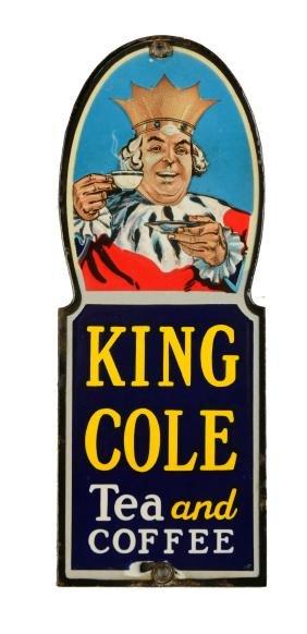 King Cole Tea & Coffee Porcelain Door Push.