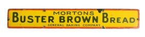 Buster Brown Bread Porcelain Advertising Sign.