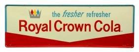 Large Tin Royal Crown Cola Self Framed Advertising