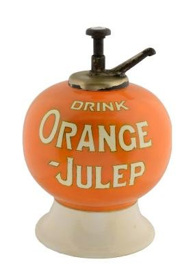 Orange-Julep Syrup Dispenser.
