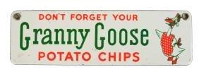 Granny Goose Potato Chip Porcelain Door Push.