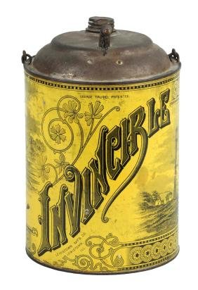 Invincible Bail Handled Oil Tin With Spout.