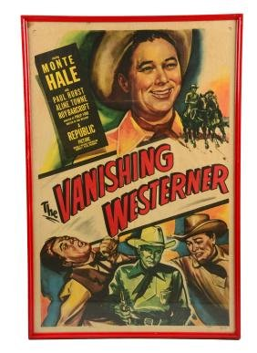 The Vanishing Westerner Advertising Movie Poster.