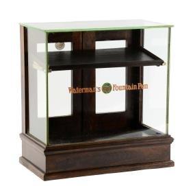 Waterman's Fountain Pen Wooden Display Case.