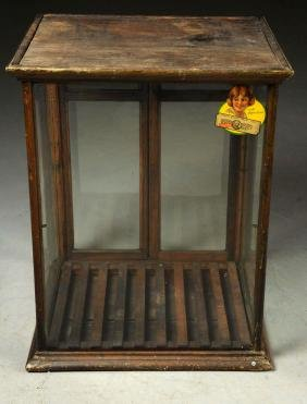 Early Glass Country Store Display Case.