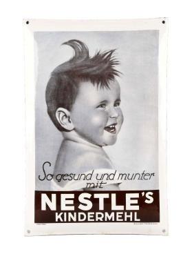 Nestle's Porcelain Advertising Sign.