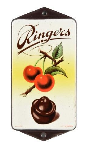 Ringers Chocolates Porcelain Door Push.