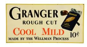 Granger Rough Cut Tobacco Tin Sign.