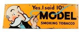 Model Smoking Tobacco Advertising Sign.