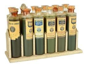 Richfield Motor Oils Glass Salesman Sample Bottles On