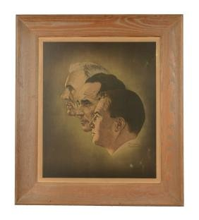 Henry, Edsel & Henry II Print by Norman Rockwell