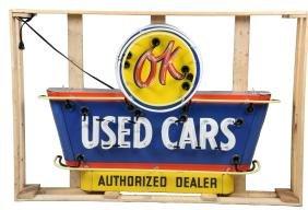 (Chevrolet) OK Used Cars Die-cut Neon Sign.