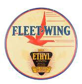 Fleet-Wing Double Sided Porcelain Sign.