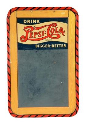 Drink Pepsi-Cola Chalkboard Tin Sign.