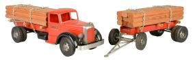 """Smith Miller Mack """"L"""" Timber Truck and Tandem Pup"""