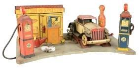 "Marx ""Sunny Side Service Station"" With Original Car."