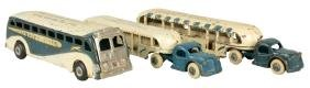 Lot Of 3: Arcade World's Fair Greyhound Buses.