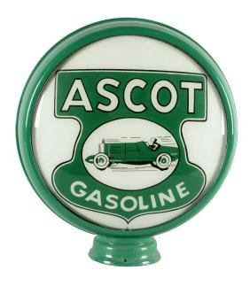 "Reproduction Ascot Gasoline With Race Car 15"" Globe"