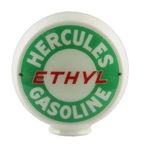 """Hercules Ethyl Gasoline 13-1/2"""" Globe Lenses."""