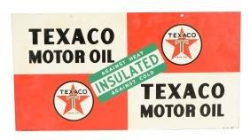 Texaco (White-T) Motor Oil Metal Sign.