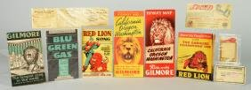 Lot Of 10: Gilmore Gasoline Paper Advertisements &