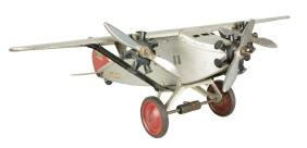 Steelcraft Tri-Motor Airplane Toy.