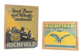Lot Of 2:  Richfield Winterfront & Poster.