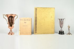 Lot Of 4: West Coast Racing Trophy & Other Items.