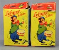 (2) Schuco Monkey Violinist & Monkey Drummer