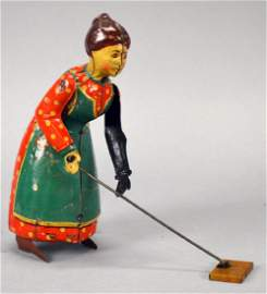 Busy Lizzie German Tin Wind-Up Toy