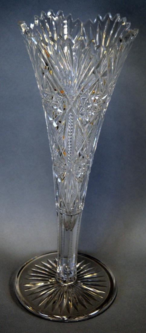 Cut Glass Trumpet Vase