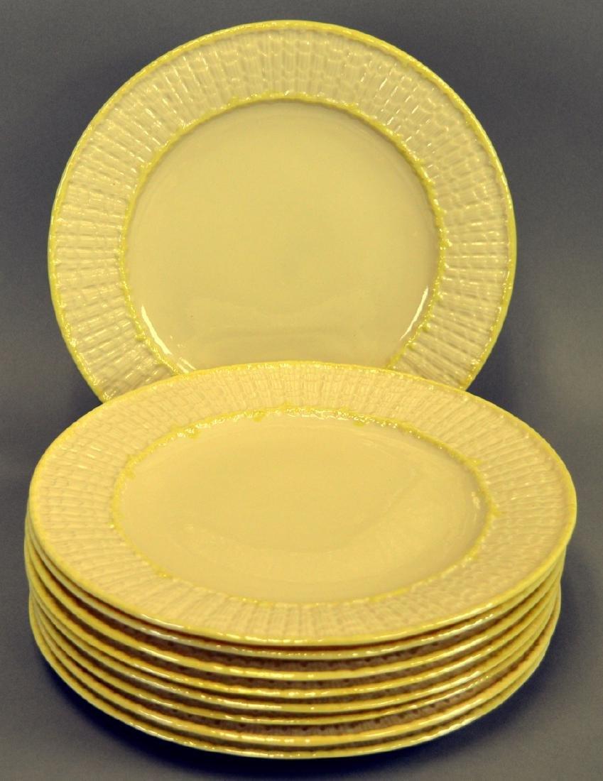 9 Irish Belleek Limpet Dinner Plates