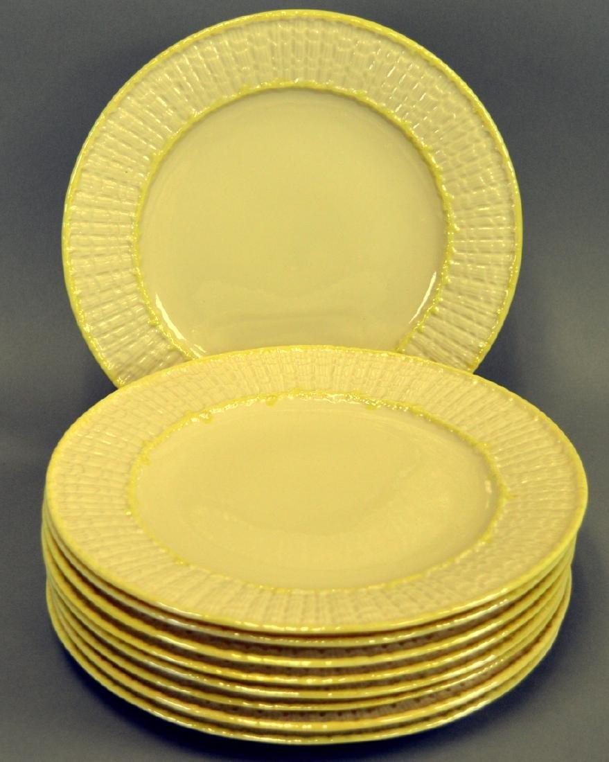 9 Irish Belleek Limpet Dinner Plates - 2