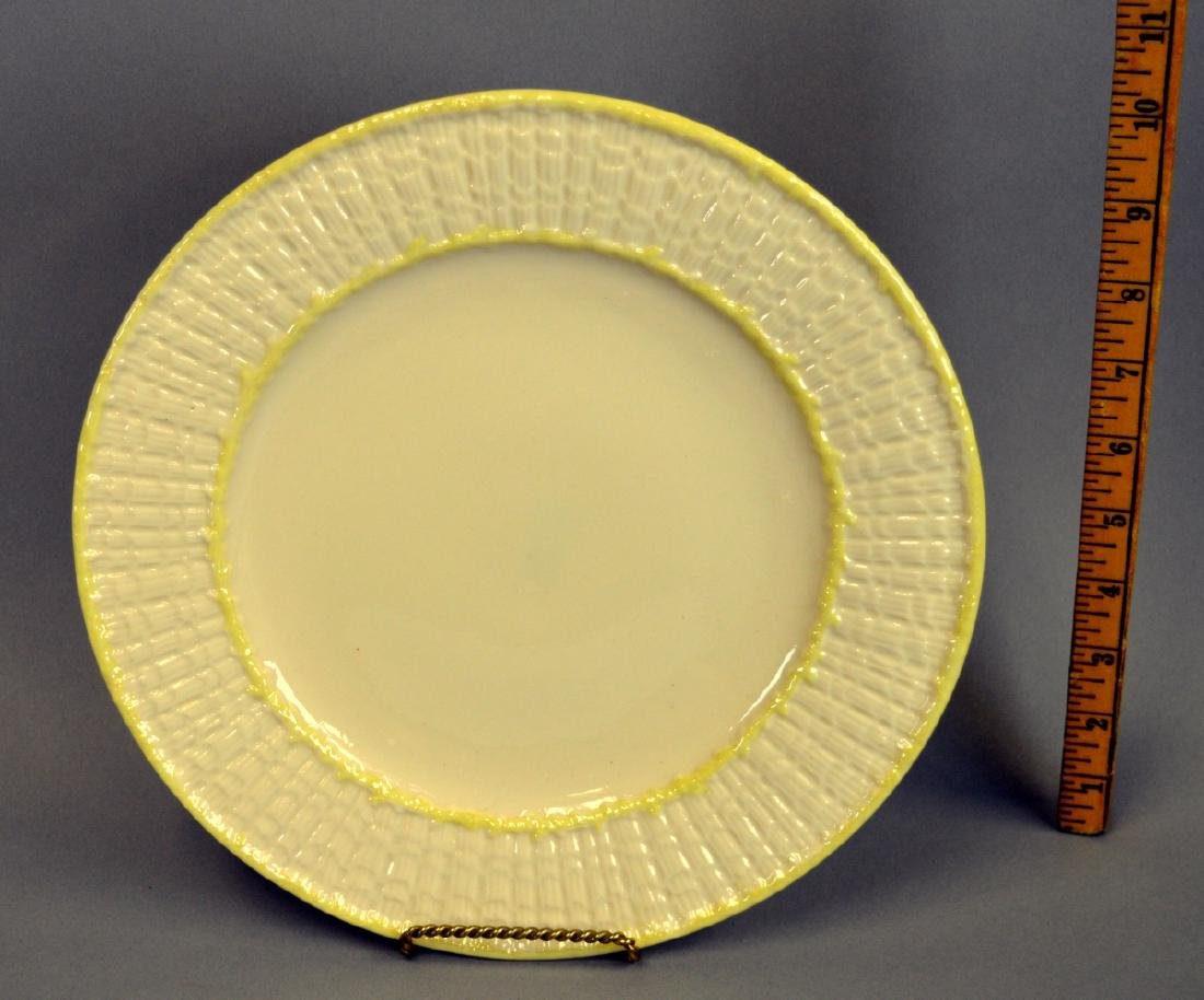 9 Irish Belleek Limpet Dinner Plates - 3