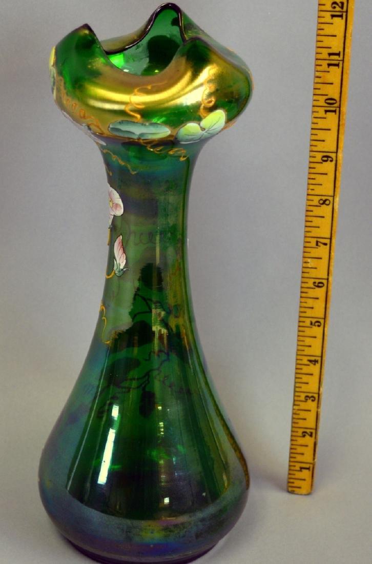 Bohemian Glass Art Nouveau Vase - 2
