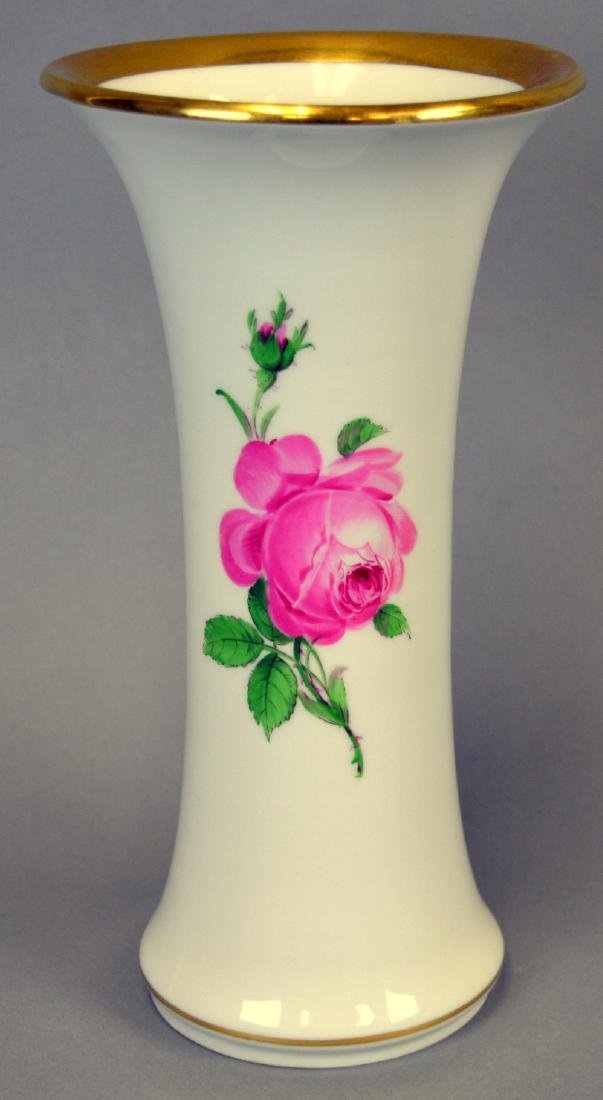 "Meissen Rose Vase 9-1/4"" high"