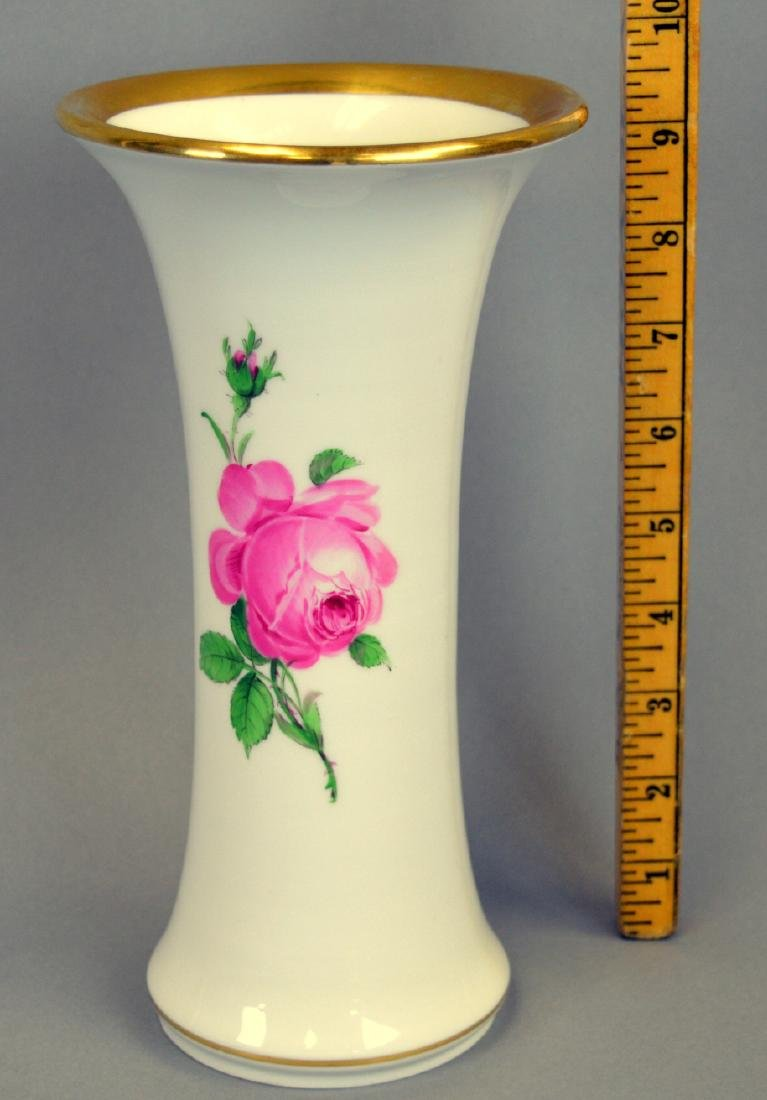 "Meissen Rose Vase 9-1/4"" high - 2"