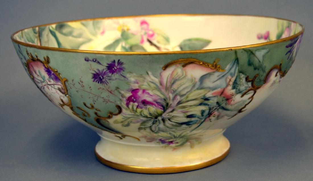 Victorian Handpainted Punch Bowl