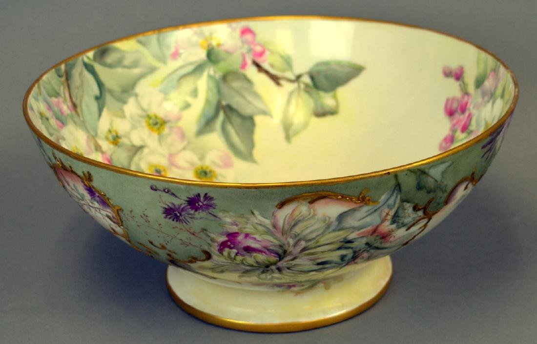 Victorian Handpainted Punch Bowl - 2