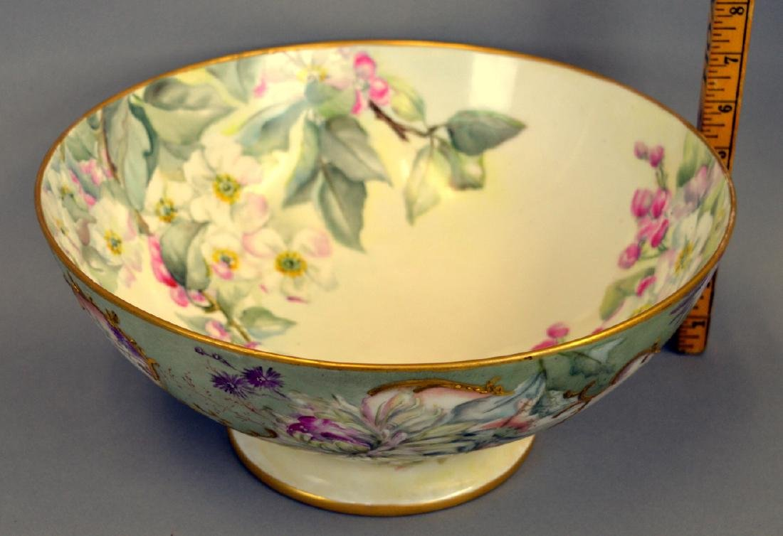 Victorian Handpainted Punch Bowl - 3