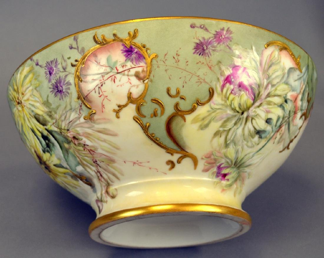 Victorian Handpainted Punch Bowl - 4