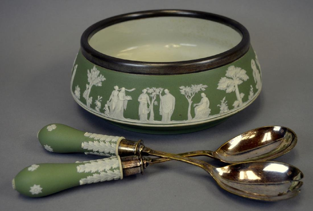 Antique Wedgwood Jaspeware Salad Set